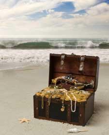 Poema infantil. Cofrecito en la orilla del mar