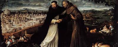 El encuentro de Francisco de Asís y Domingo de Guzmán