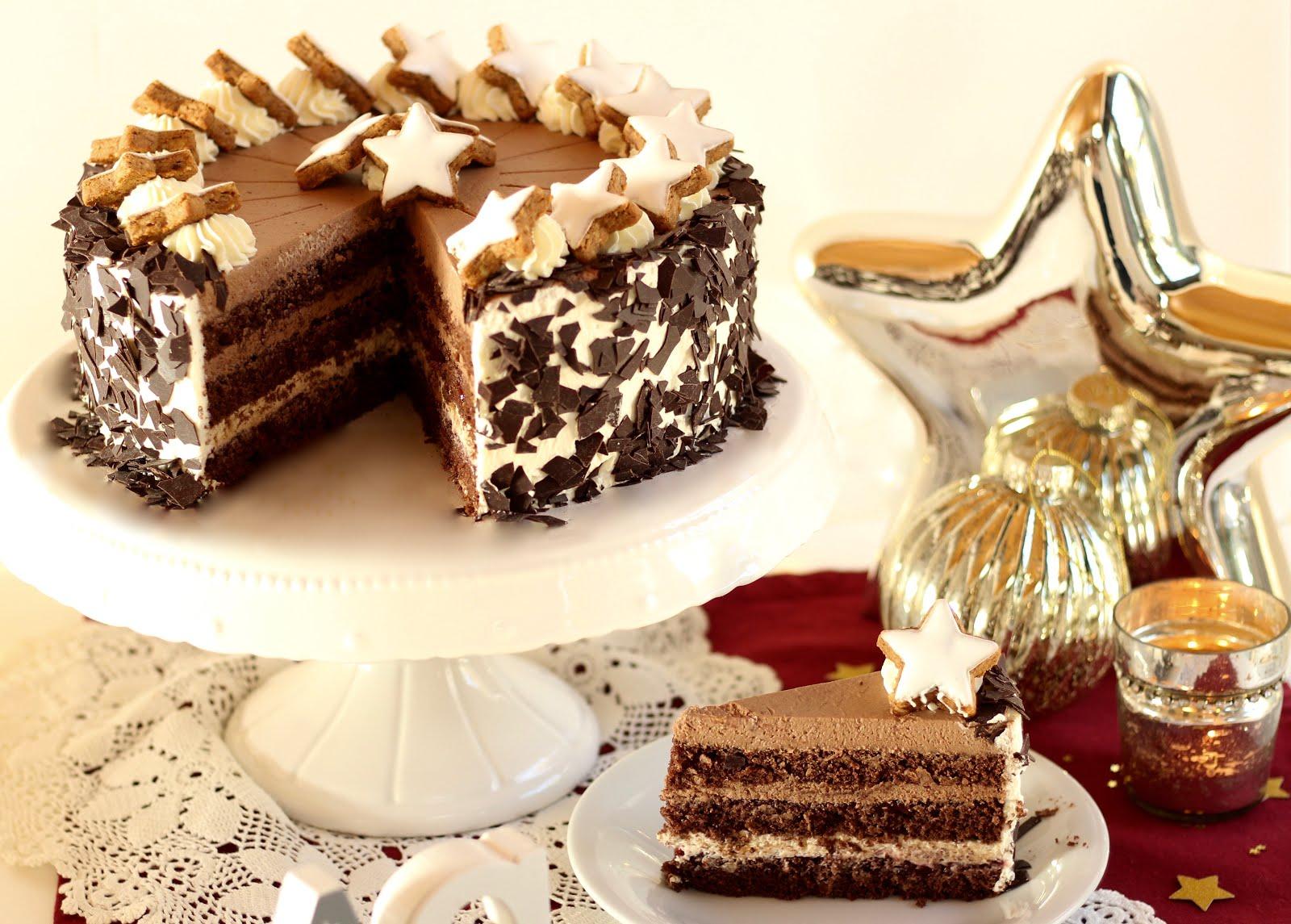 Festliche Schoko-Zimtstern-Torte - Rezept und Video von Sugarprincess | SCCC 2019: Türchen Nr. 8 | Gewinnspiel