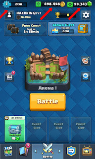 Cheat Hack Game Clash Royale Unlock All Card Collection