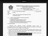 Format Surat Tugas Operator Sekolah untuk Kelola Verval PD Kemenag
