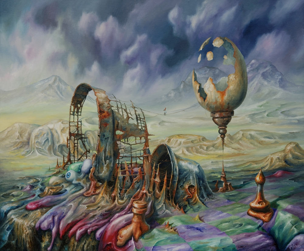 05-Fragility-of-Being-Jaroslaw-Jaśnikowski-Paintings-of-Surreal-Architecture-with-Gothic-Undertones-www-designstack-co