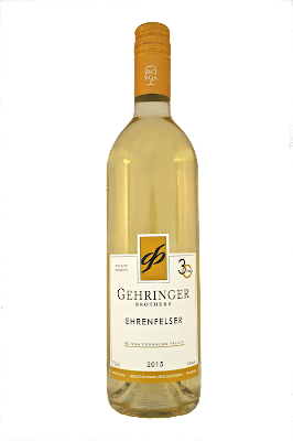 A bottele of Gehringer Brothers Ehrenfelser