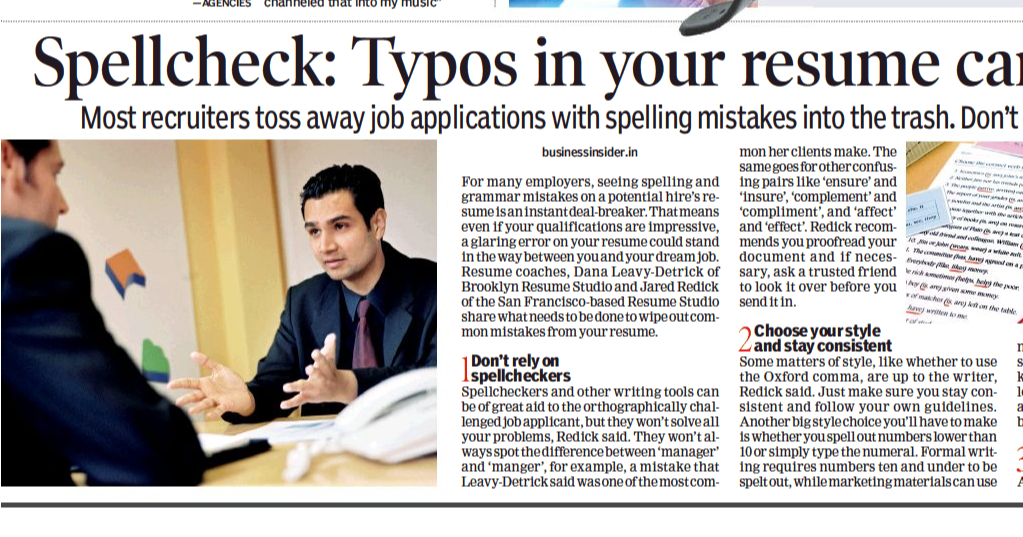 Fyilibrarian Spellcheck Typos In Your Resume Can Be A Deal Breaker