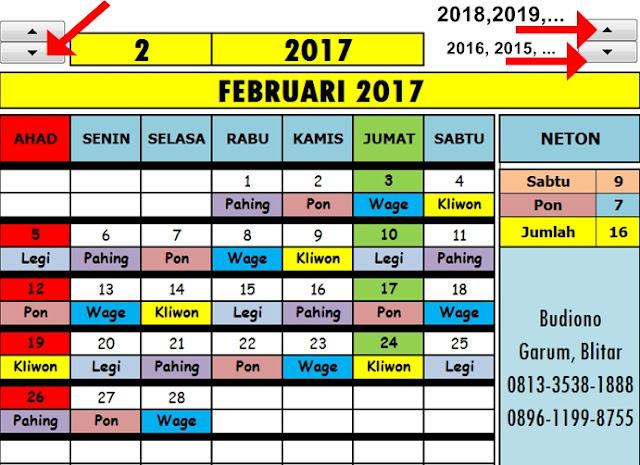 Download Gratis Aplikasi Kalender Masehi Abadi Sepanjang Masa Lengkap dengan Weton Pasaran Aplikasi Excel Kalender Abadi Sepanjang Masa Lengkap dengan Weton Pasaran Paing, Pon, Wage, Kliwon, dan Legi
