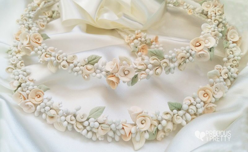 Wedding crowns with flowers from Greece
