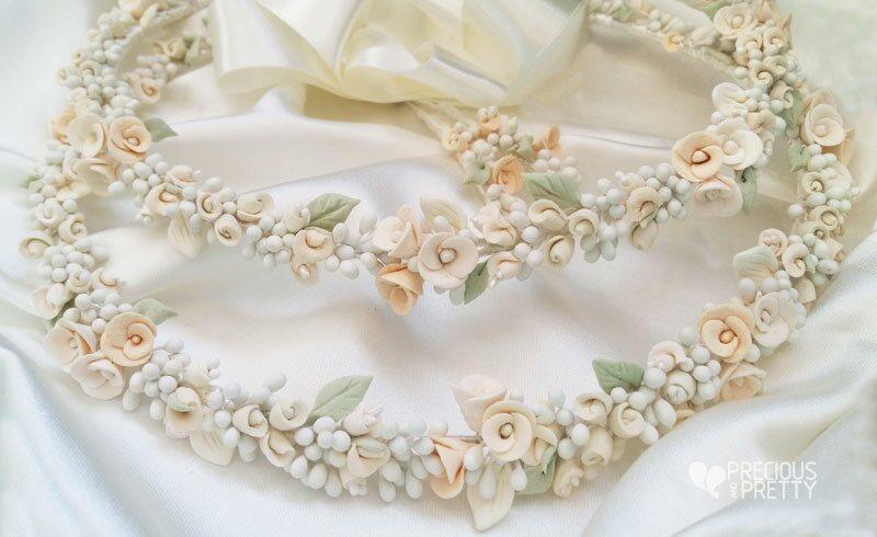 Flower Greek Wedding Crowns N454
