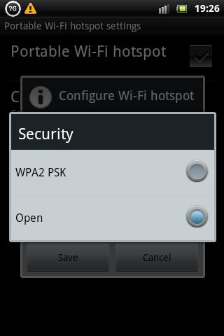 Xperia Mini Pro Wireless Hotspot Security Settings