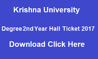 krishna university ug 2nd year hall tickets 2017 download