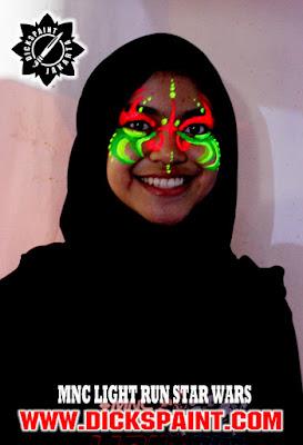 face painting uv glow dark jakarta