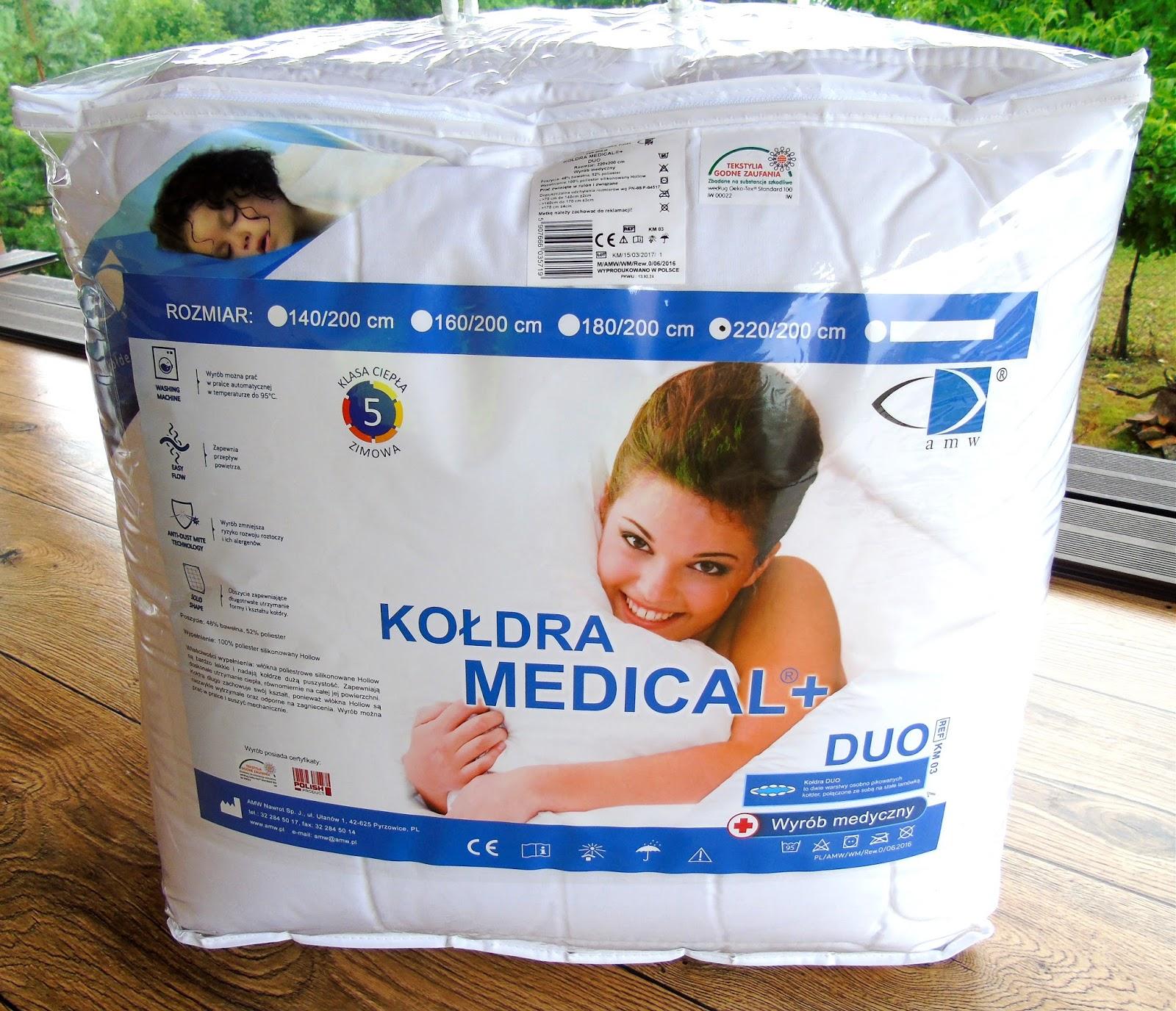 Kołdra antyalergiczna Medical Duo i ręcznik Fit 50x90 ze sklepu SLODKIESNY.PL