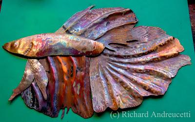 Irish abstract artist, copper, recycled,  irish metalwork artist