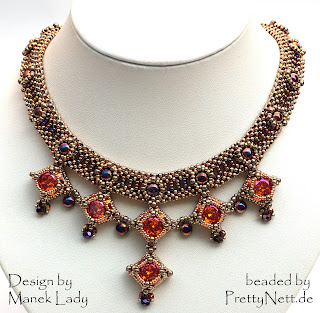 "Necklace ""Drina Victoria"" beaded by PrettyNett.de"
