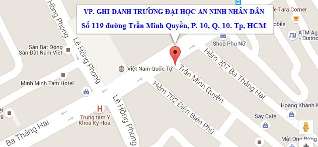 bản đồ địa chỉ đăng ký học lái xe ô tô