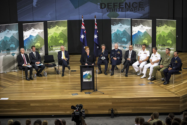 Image Source: Minister for Defence the Hon Marise Payne, MP, speaking at the launch of the 2016 Defence White Paper at the Australian Defence Force Academy (ADFA) in Canberra.