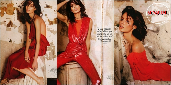 sensual red fashion looks and editorials