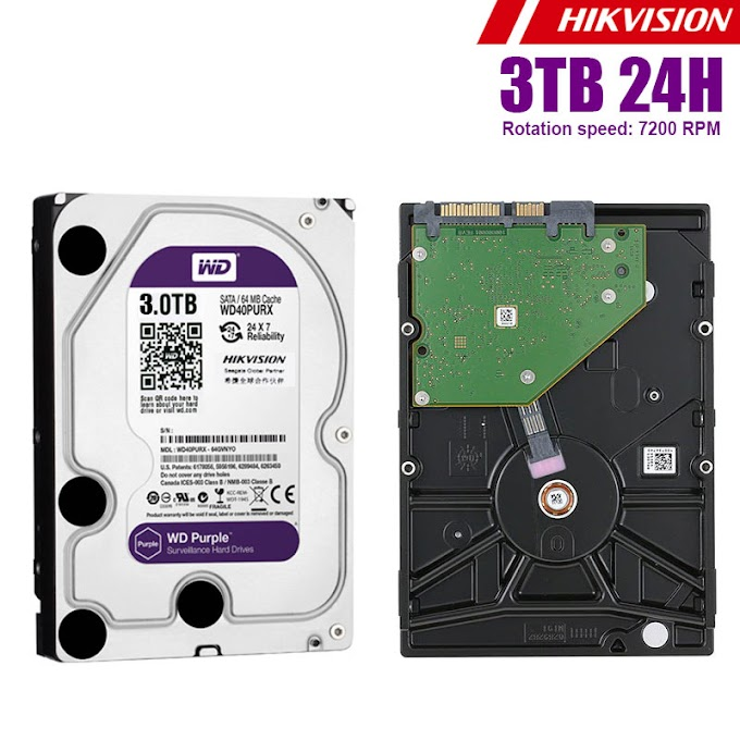 Hard disk hikvision WD Purple(24H) 3TB