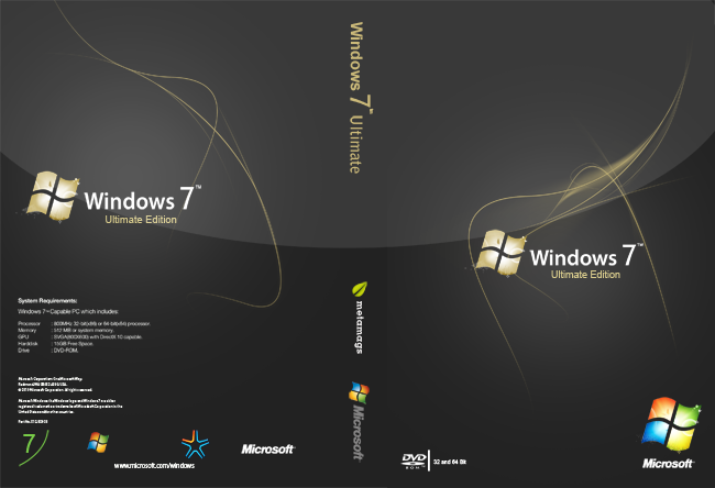 Windows 7 Dark Ultimate Netbook Edition SP1 228243 Windows 7 Cover