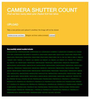 Interface Camera Shutter Count