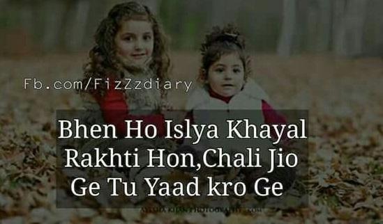 Best Sister Shayari With Dua In Urdu,Hindi