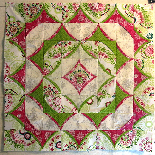 3D Flying Geese Quilt Free Tutorial designed by Marija from Fabric of My Life