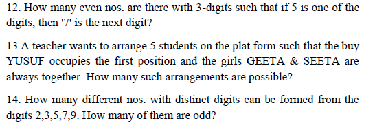Concept and  Important Questions of PERMUTATION & COMBINATION,fundamental principle of counting,