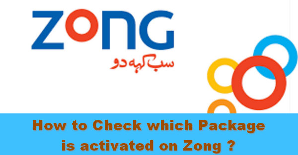 How to check which package is activated on Zong