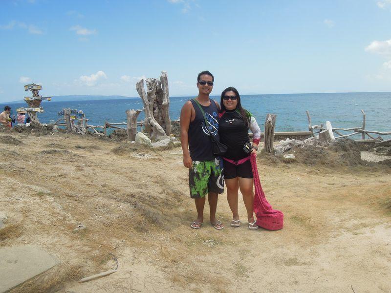 Souvenir photo at Crystal Cove in Boracay
