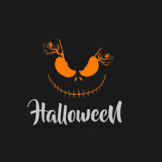 Creepy Halloween Design Logo Template Free Download Vector CDR, AI, EPS and PNG Formats