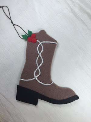 Cowboy boot ornaments 1