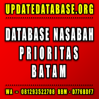 Jual Database Nasabah Prioritas Batam