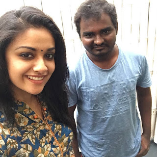 Keerthy Suresh with Cute and Lovely Smile with a Lucky Fan