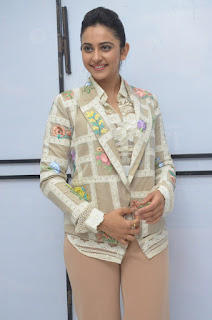 Rakul Preet Singh in a Blazer and Trousers at Jaya Janaki Nayaka success meet 11.08.2017