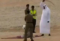 Most people put to death in Saudi Arabia are beheaded with a sword.