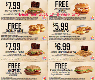 free Burger King coupons for december 2016