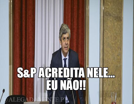 Imagem do Mário Centeno – S&P Acredita nele… Eu não
