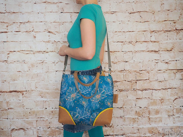 coral reef, crossbody bag, handbag, ricrac, sea, summer, turquoise, vegan leather, washpapa, waterproof,