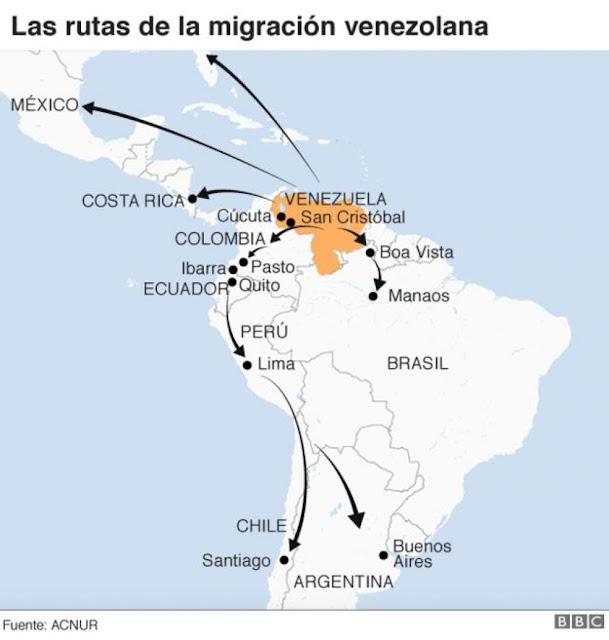 Venezuela: 3 gráficos que muestran la enorme dimensión del éxodo
