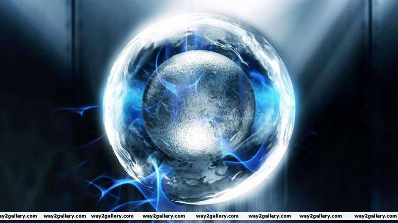 The ball inside the ball wallpaper