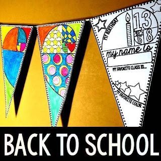 Back to School pennant: A Math GLYPH