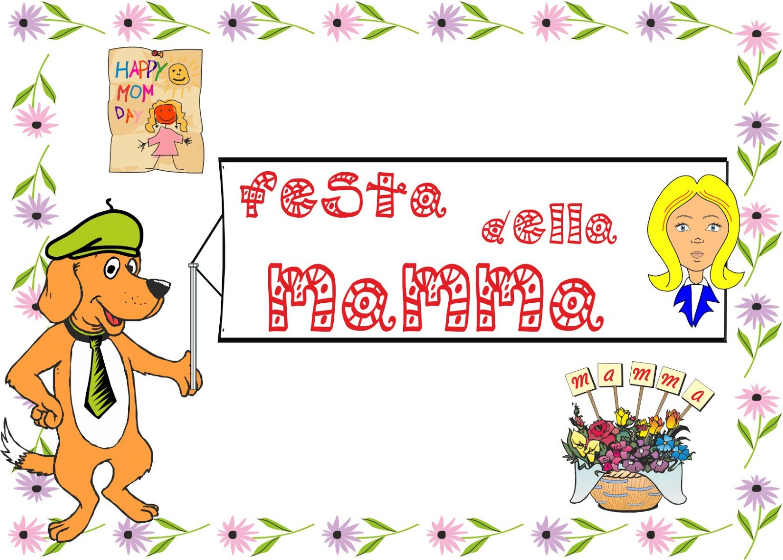 A Scuola Con Poldo Schede Didattiche Festa Della Mamma