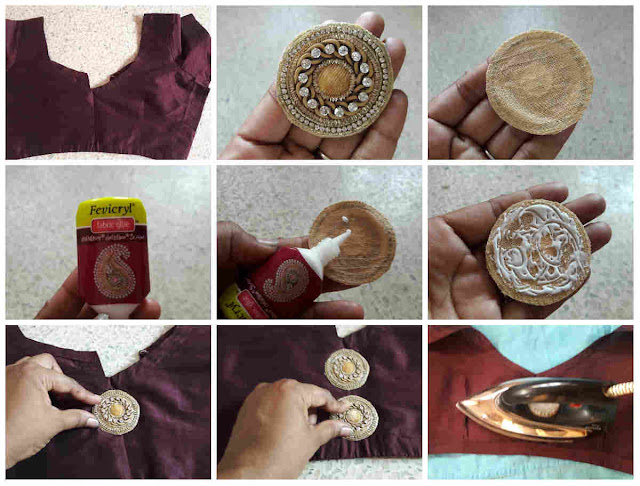 Easy DIY steps to transform your plain silk cotton blouse into a designer blouse