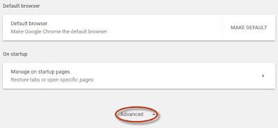 pengaturan google chrome lainnya