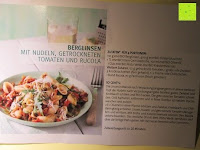 Rezept Karte: Rossmann enerBio - Berglinsen, Dinkel-Muscheln, Klare Gemüsebrühe, Olivenöl, Pesto Verde, Kräutermeersalz (mit Rezept)
