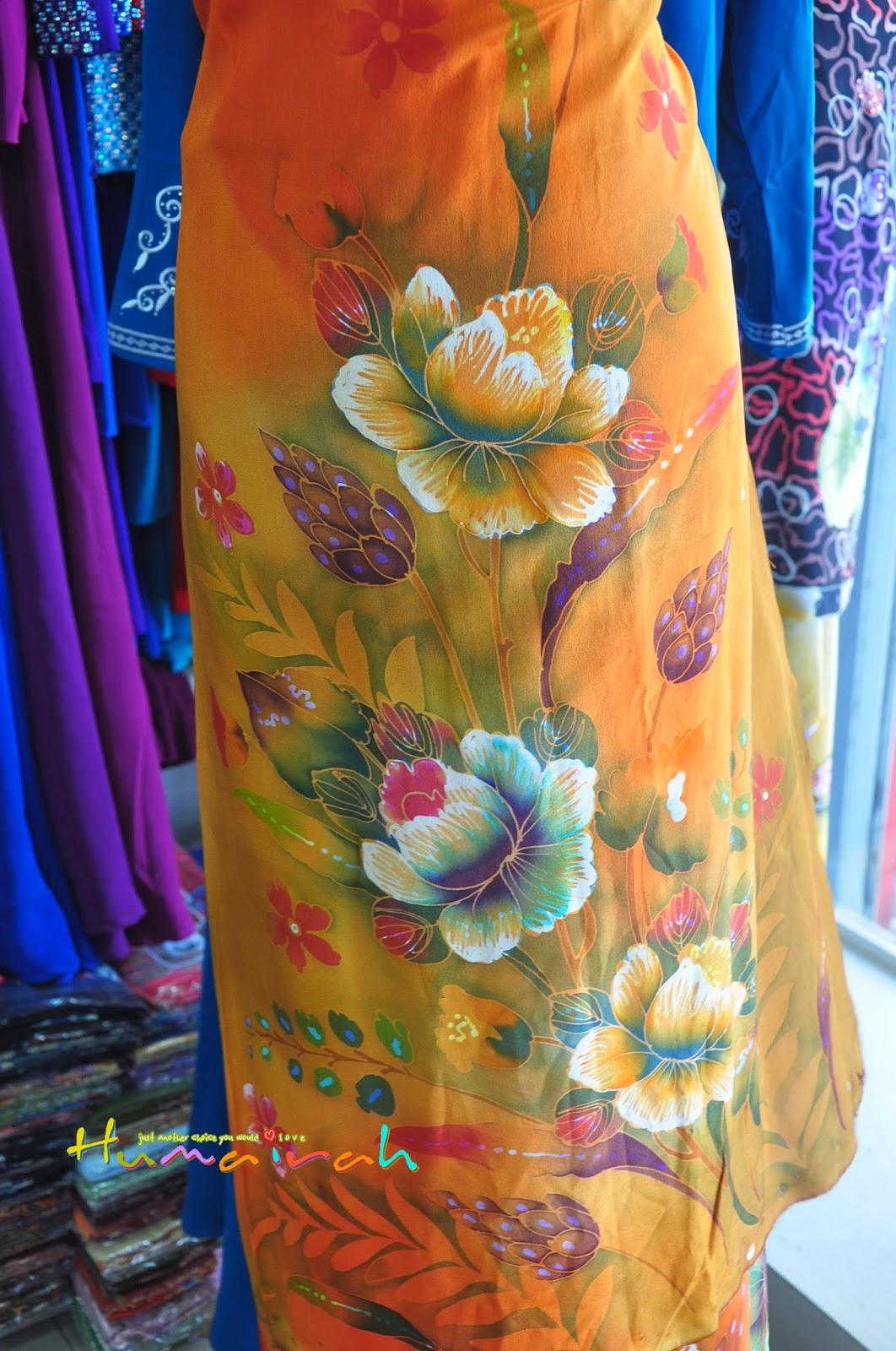 CR79 - Batik Sutera Handmade Bunga Ros Oren 4