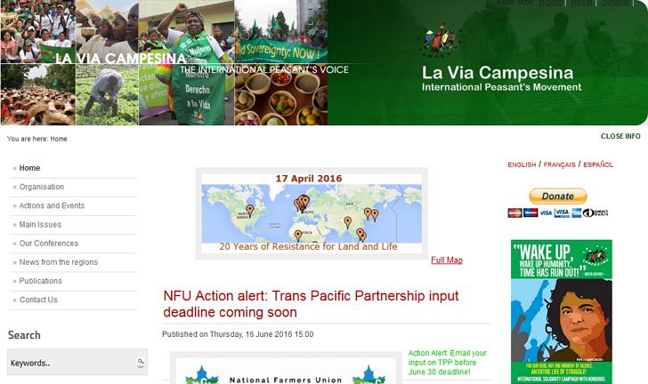 좋은 사이트 소개 : 농민의 길 La Via Campesina [비아 깜페시나]