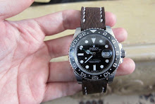 Michael's Rolex GMT on Dangerous9 Chocolate Shark skin