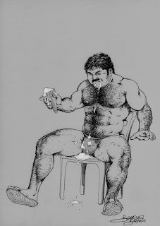 vintage gay drawings