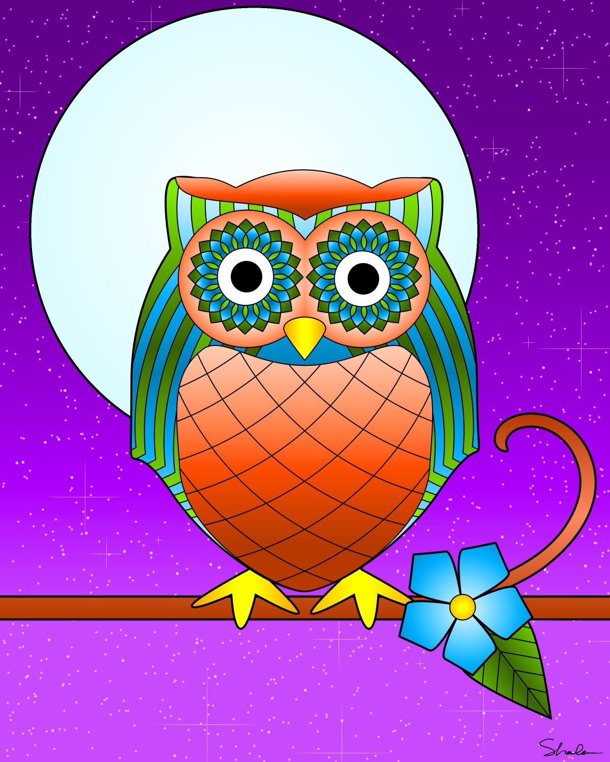 Colorful Pictures Of Owls Don 39t Eat The Paste Owl Coloring Page