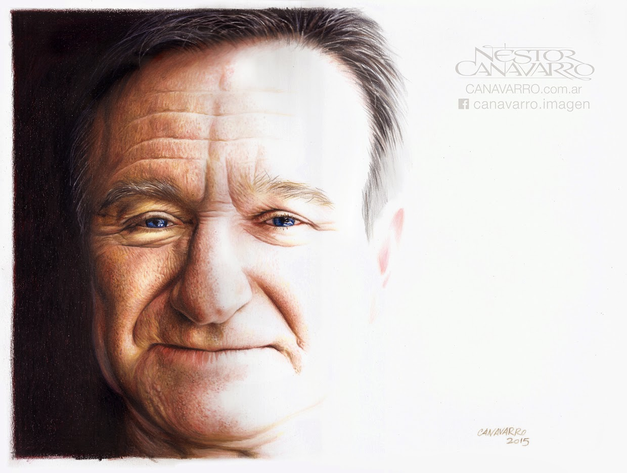 05-Robin-Williams-Nestor-Canavarro-Celebrity-Portraits-Animated-Drawings-www-designstack-co